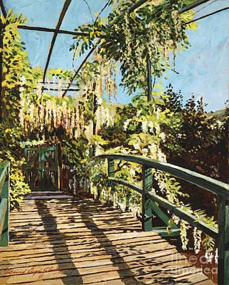 Monet's Bridge Giverny Print by David Lloyd Glover