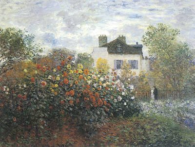 Claude Painting - Monet's Garden At Argenteuil by Claude Monet