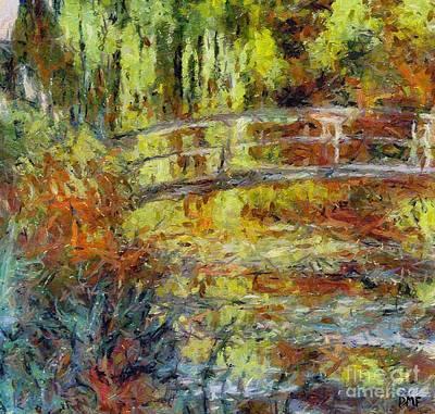 Wall Painting - Monet's Japanese Bridge by Dragica  Micki Fortuna
