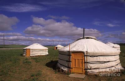Yurts Photograph - Mongolian Ger House by Novastock