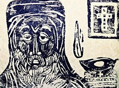 Monk 5 Print by Sarah Loft