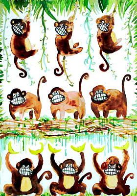 Chimpanzee Painting - Monkey Armada by Fabrizio Cassetta