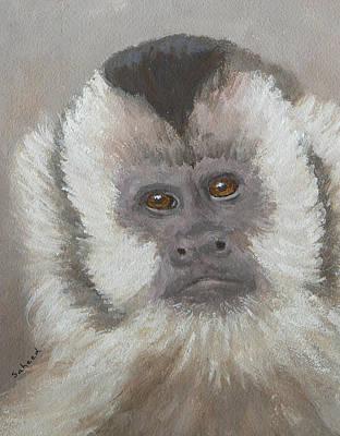 Monkey Gaze Print by Margaret Saheed