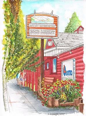 Carlos Lee Painting - Mono Market Near Mono Lake In Lee Vining-california by Carlos G Groppa