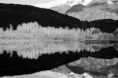 Mono One Mile Lake Print by Pierre Leclerc Photography