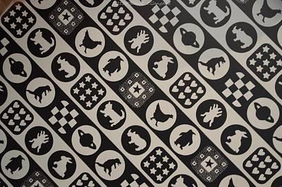 Monochrome Mosaic Print by Sonali Gangane