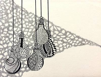 Monochrome Spectra Print by Ankeeta Bansal