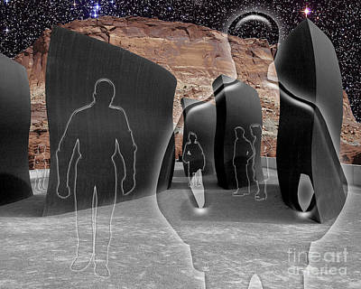 Monolith Digital Art - Monoliths For The Empty People by Keith Dillon