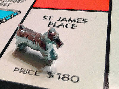 Monopoly Board Custom Painting St James Place Original by Tony Rubino