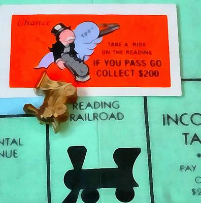 Board Game Painting - Monopoly Man by Dan Sproul