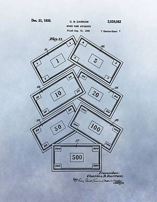 Monopoly Money Patent Print by Dan Sproul
