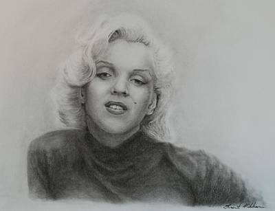 Norma Jean Drawing - Monroe by Brent  Mileham