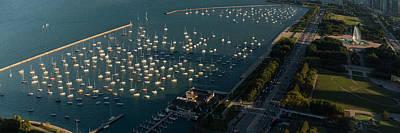 Sailboat Photograph - Monroe Harbor Chicago by Steve Gadomski