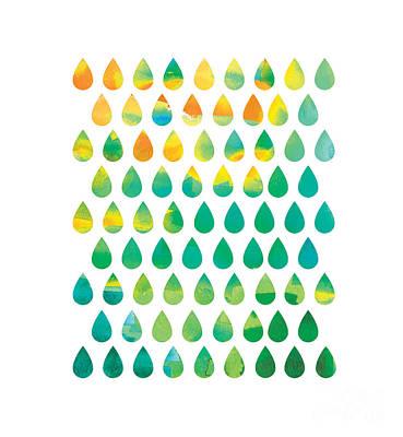 Monsoon Rain Print by Nava Seas