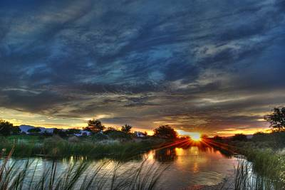Monsoon Sunset Print by Tam Ryan