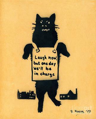 Monster Cat Print by Bela Manson