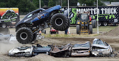 Photograph - Monster Trucks Size Matters 4 by Bob Christopher