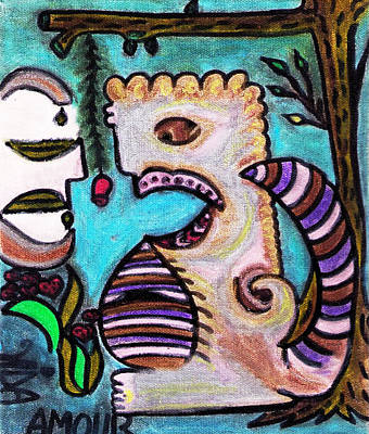 Monsters Love Life Too Print by Lois Picasso