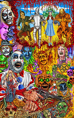Monsters Murder And Mayhem Oh My Original by Timothy Phillips