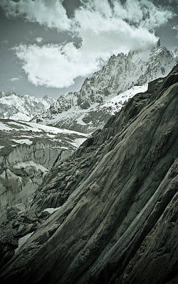 Photograph - Mont Blanc Glacier by Frank Tschakert