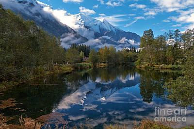 Mont Blanc Massiv Print by Juergen Klust