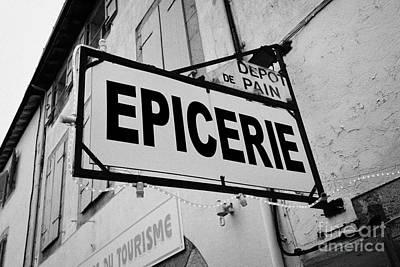 Epicerie Photograph - Mont-louis Pyrenees-orientales France by Joe Fox