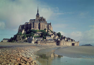 Mont Saint-michel Photo Print by French School