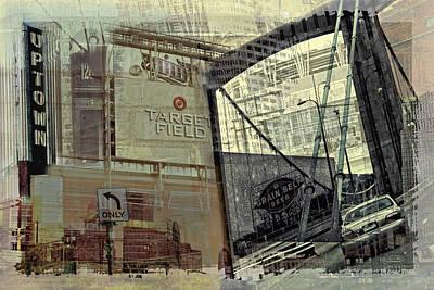 Targets Digital Art - Montage Of Minneapolis by Susan Stone
