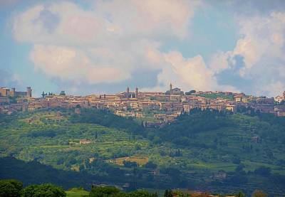 Tuscan Hills Photograph - Montalcino by Marilyn Dunlap
