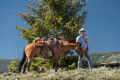 The Cowboy Photograph - Montana Cowboy 2 by Leland D Howard