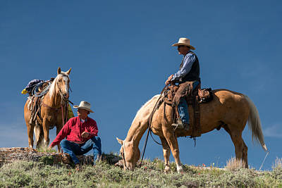 The Cowboy Photograph - Montana Cowboy 3 by Leland D Howard