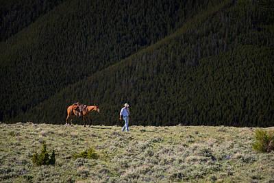 The Cowboy Photograph - Montana Cowboy by Leland D Howard