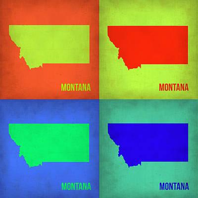 Miami Painting - Montana Pop Art Map 1 by Naxart Studio