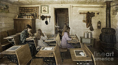 Montana's Oldest Standing Schoolhouse Print by Priscilla Burgers