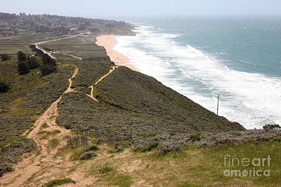 Montara State Beach Pacific Coast Highway California 5d22632 Print by Wingsdomain Art and Photography