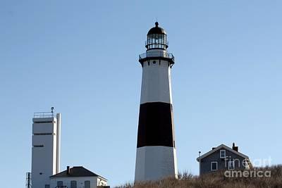 Montauk Lighthouse As Seen From The Beach Print by John Telfer
