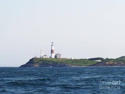 Telfer Photograph - Montauk Lighthouse From The Atlantic Ocean by John Telfer