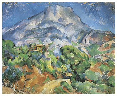 Monte Sainte-victoire Above The Tholonet Road Print by Paul Cezanne