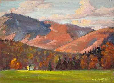 Berkshire Hills Living Painting - Monte Vista by Len Stomski