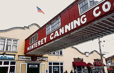 Row Boat Digital Art - Monterey Canning - Cannery Row by Linda  Parker