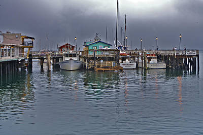 Beaches Photograph - Monterey Wharf And Harbor by SC Heffner