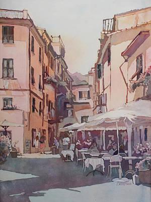 Monterosso Cafe Print by Jenny Armitage
