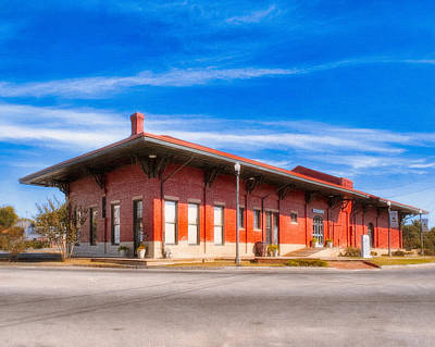 Train Station Photograph - Montezuma Train Depot - Vintage Americana by Mark E Tisdale