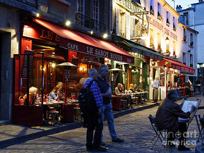 Artist Working Photograph - Montmartre Artist by Colin Woods