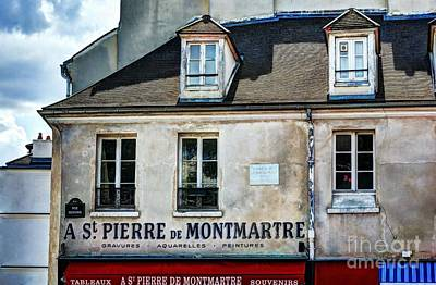St Pierre Photograph - Montmartre In Paris 5 by Mel Steinhauer