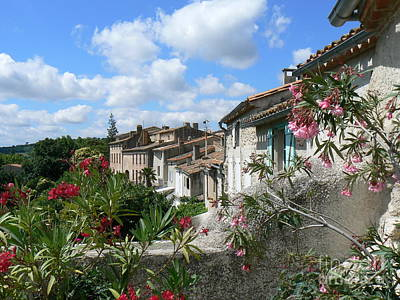 French Hilltop Terraces Print by France  Art
