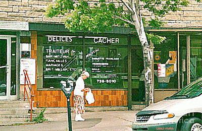 Montreal Chips Painting - Montreal Art Documenting Vintage Van Horne Kosher Delis Delices Cacher Barmitzvah Caterers C Spandau by Carole Spandau