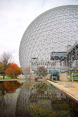 Montreal Landmarks Photograph - Montreal Biosphere by Valentino Visentini