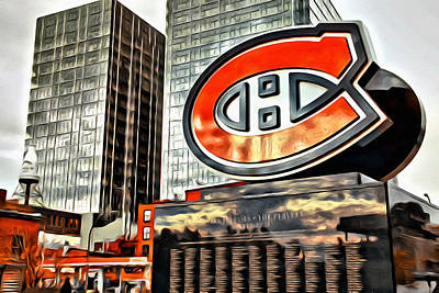 Montreal Canadiens Digital Art - Montreal C by Alice Gipson