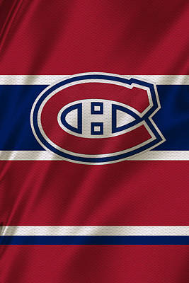 Nhl Photograph - Montreal Canadiens Uniform by Joe Hamilton